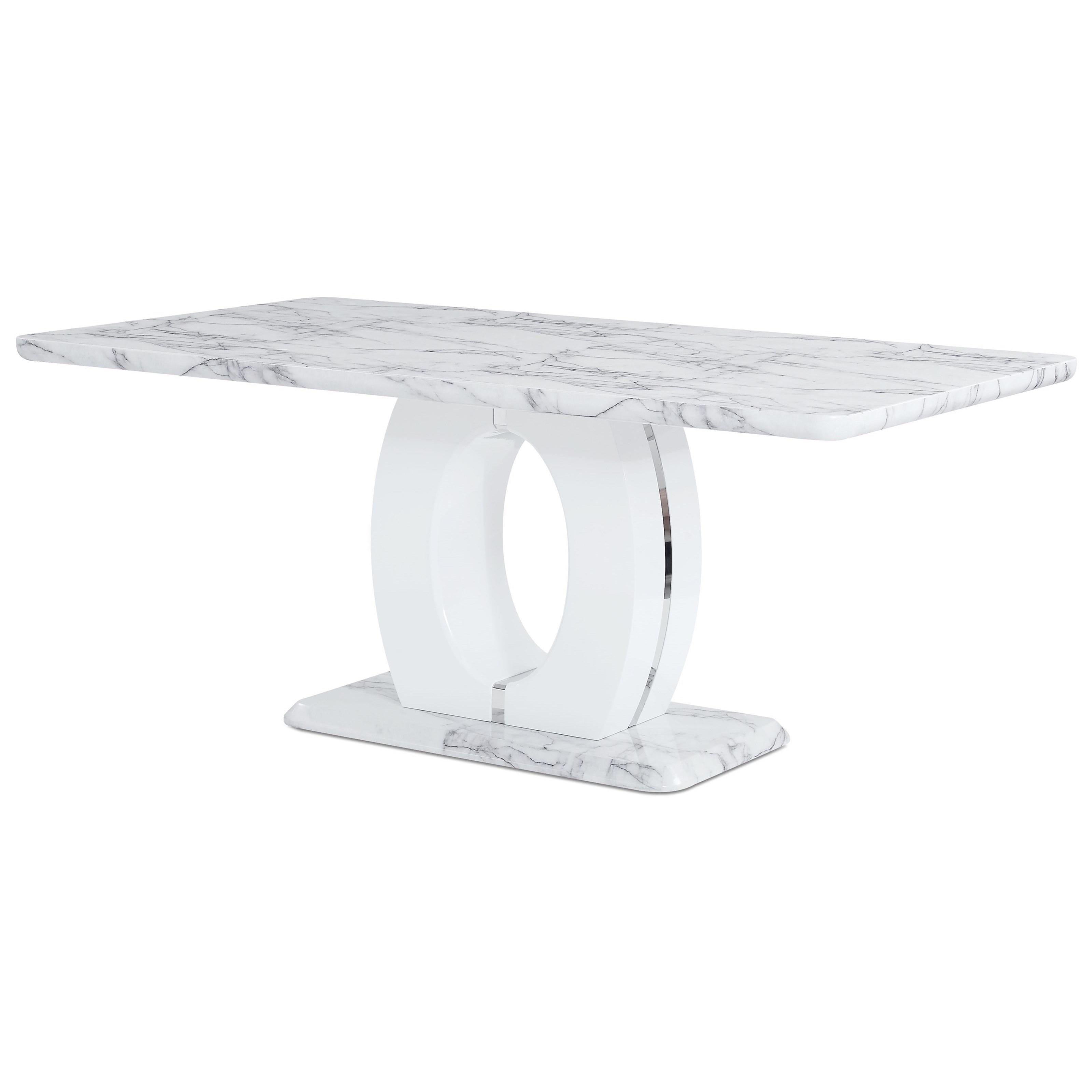 Global Furniture D894 Faux Marble Pedestal Base Dining Table Value City Furniture Dining Tables