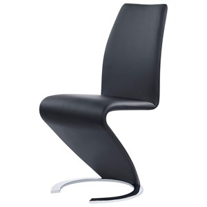 Ultra-Modern Dining Chair With Horseshoe Base