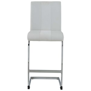 Upholstered Bar Stool with Metal Base