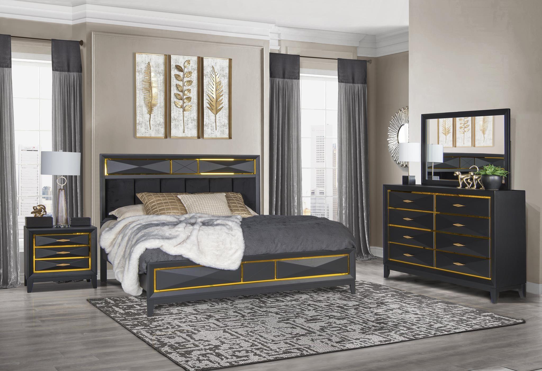 Enzo 4PC Queen Bedroom Set at Rotmans