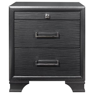 Transitional 3-Drawer Nightstand with Jewelry Tray Drawer
