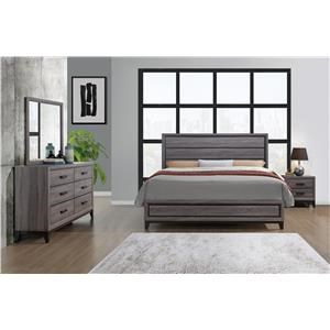 8PC Queen bedroom set with mattress and boxspring