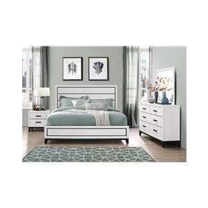 8PC QUEEN BEDROOM WITH MATTRESS AND BOXSPRING