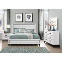 Global Furniture Kate Queen Bedroom Group - Item Number: Kate-WH Q Bedroom Group 1