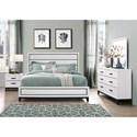 Global Furniture Kate Full Bedroom Group - Item Number: Kate-WH F Bedroom Group 1