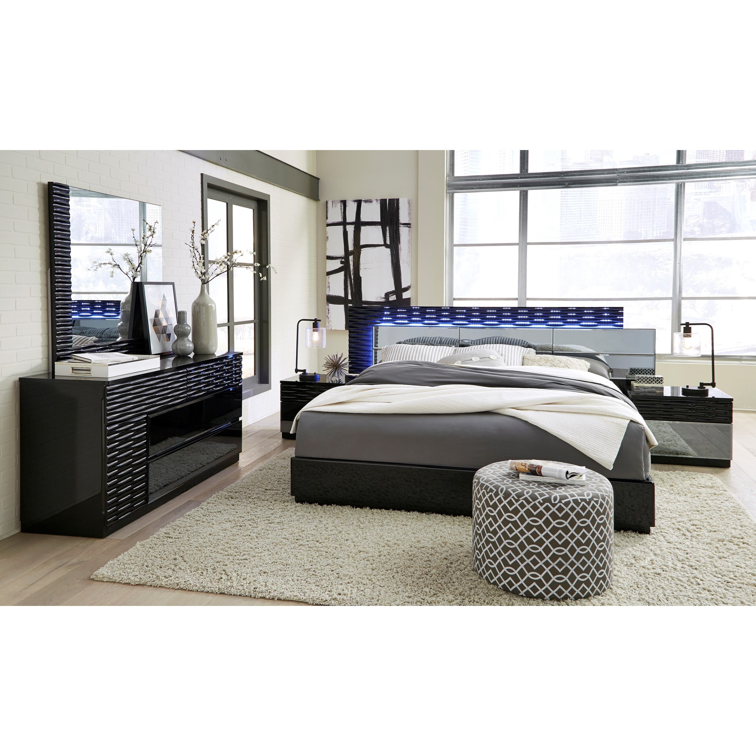 Global Furniture Manhattan Queen Bedroom Group Value