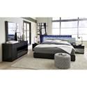 Global Furniture Manhattan King Bedroom Group - Item Number: 961 K Bedroom Group 1