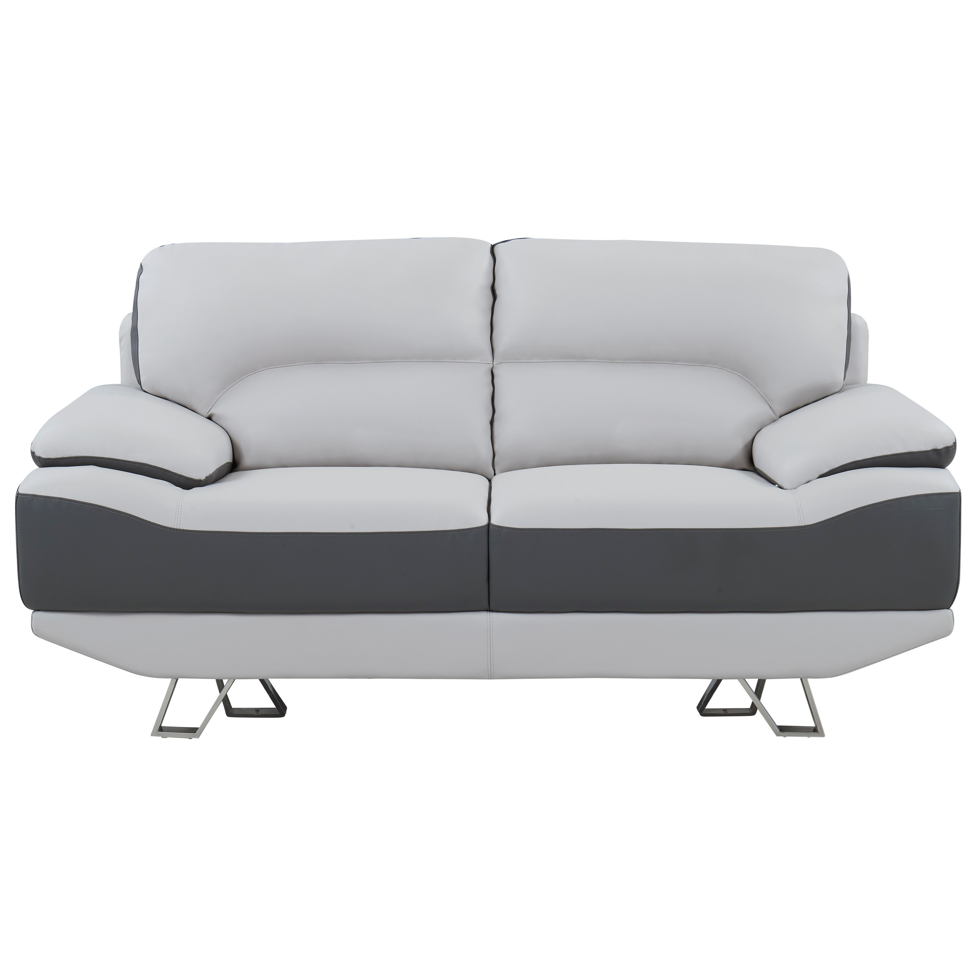 Global Furniture Natalie Contemporary Love Seat With Metal Legs Rooms For Less Loveseats
