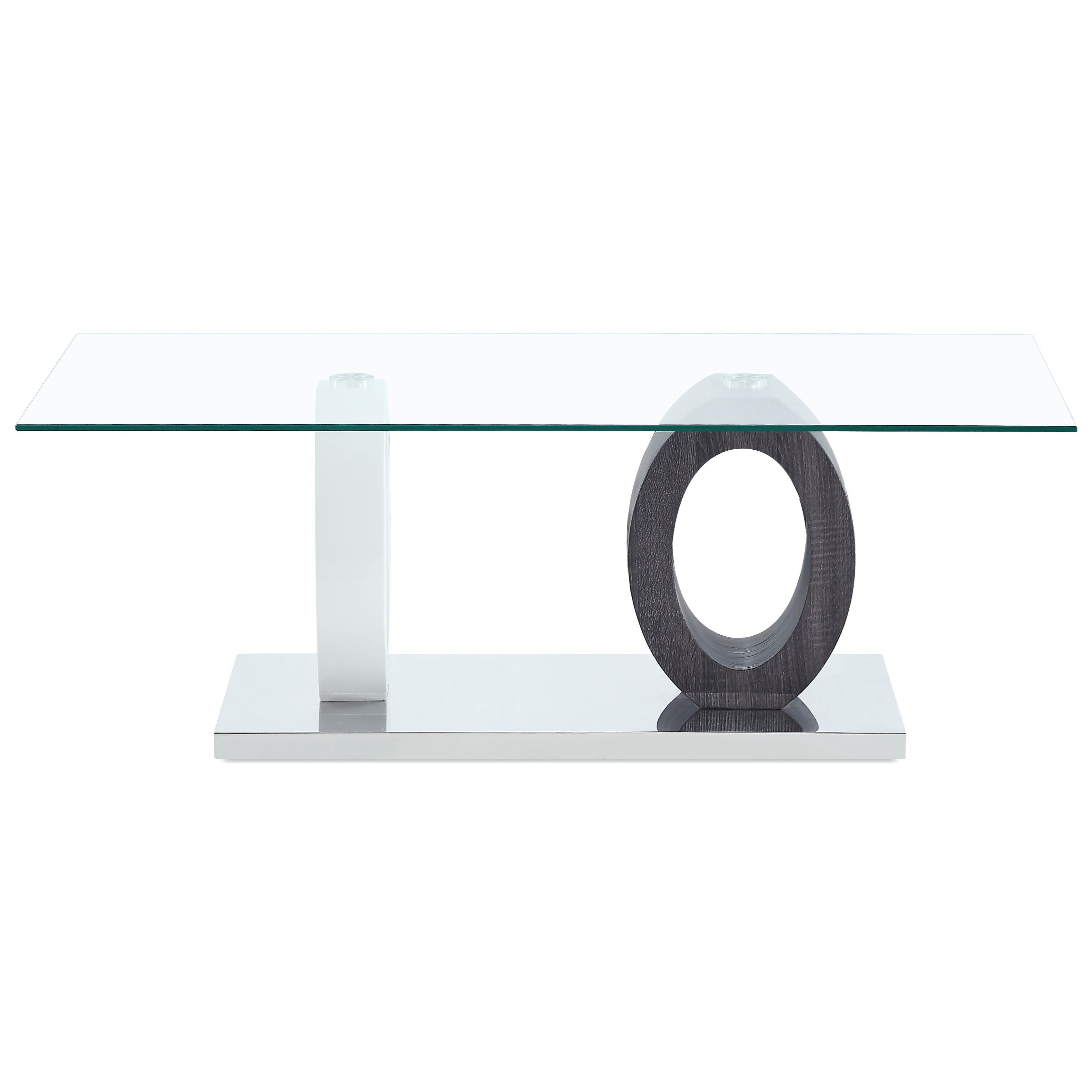 Dual Oval Base Style Cocktail Table