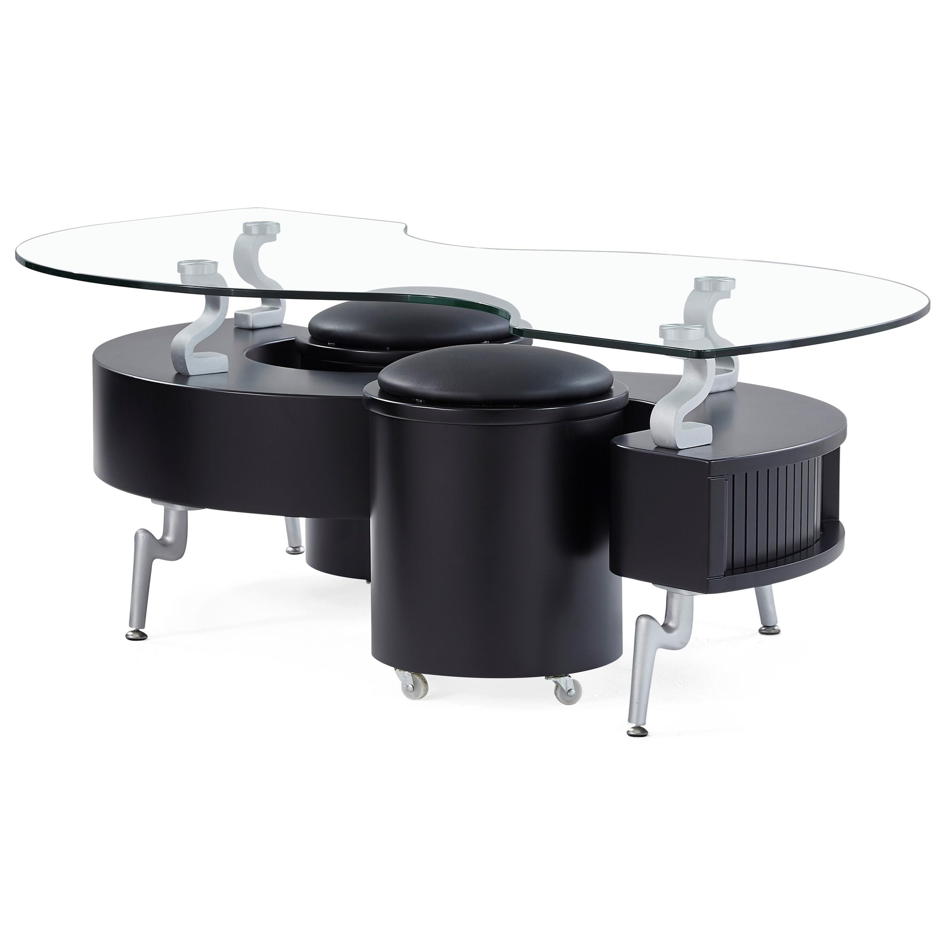 Global Furniture T288 T288bc Contemporary Coffee Table With Cushions Corner Furniture Cocktail Coffee Tables