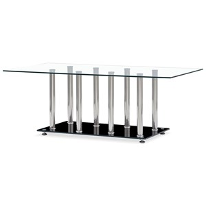 Tempered Glass Coffee Table With Chrome Legs