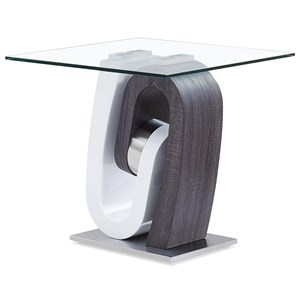 Ultra-Modern End Table with Unique Pedestal