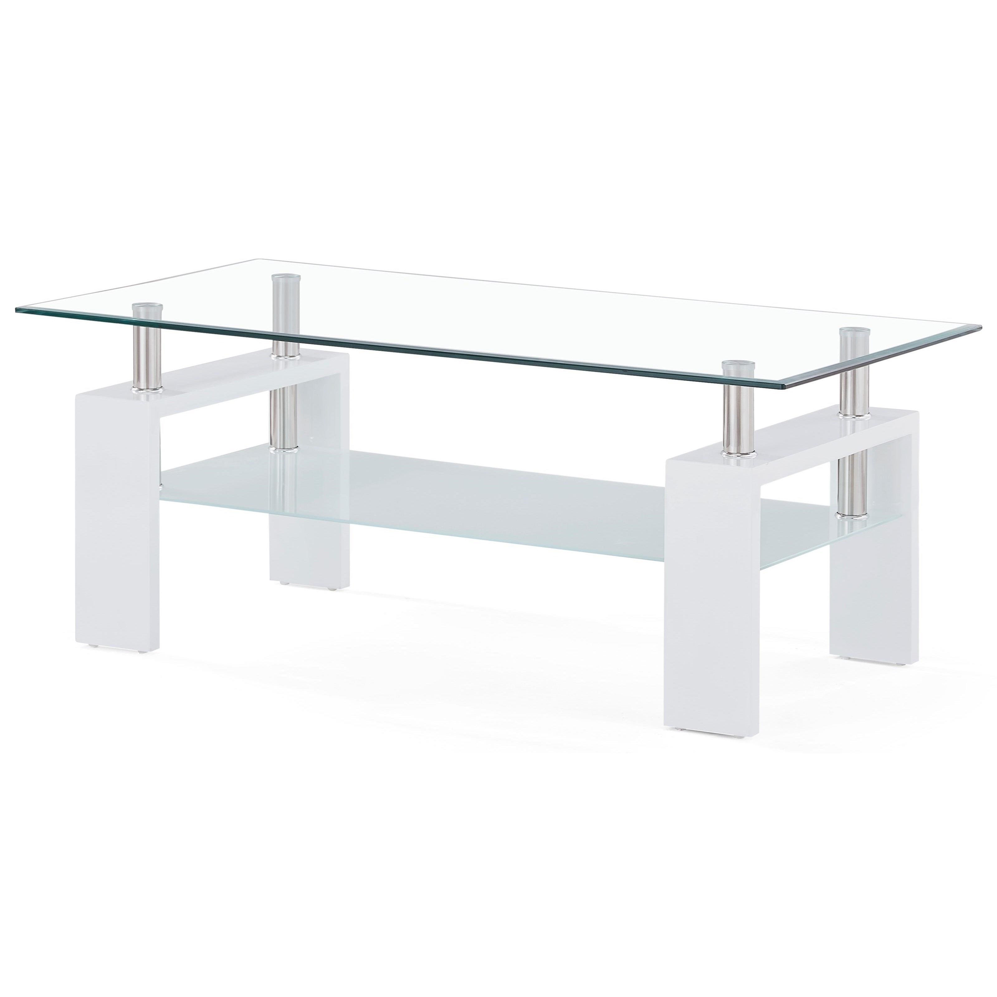 Glass And Frosted Coffee Table