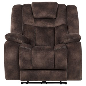 Casual Power Recliner with Power Tilt Headrest and USB Charging Port