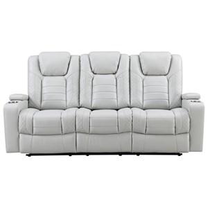Pwr Reclining Sofa w/ Pwr Head & DD Table