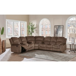 Casual Plush 3-Piece Sectional