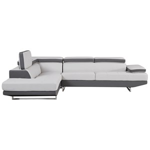 Sectional with Ratchet Headrest
