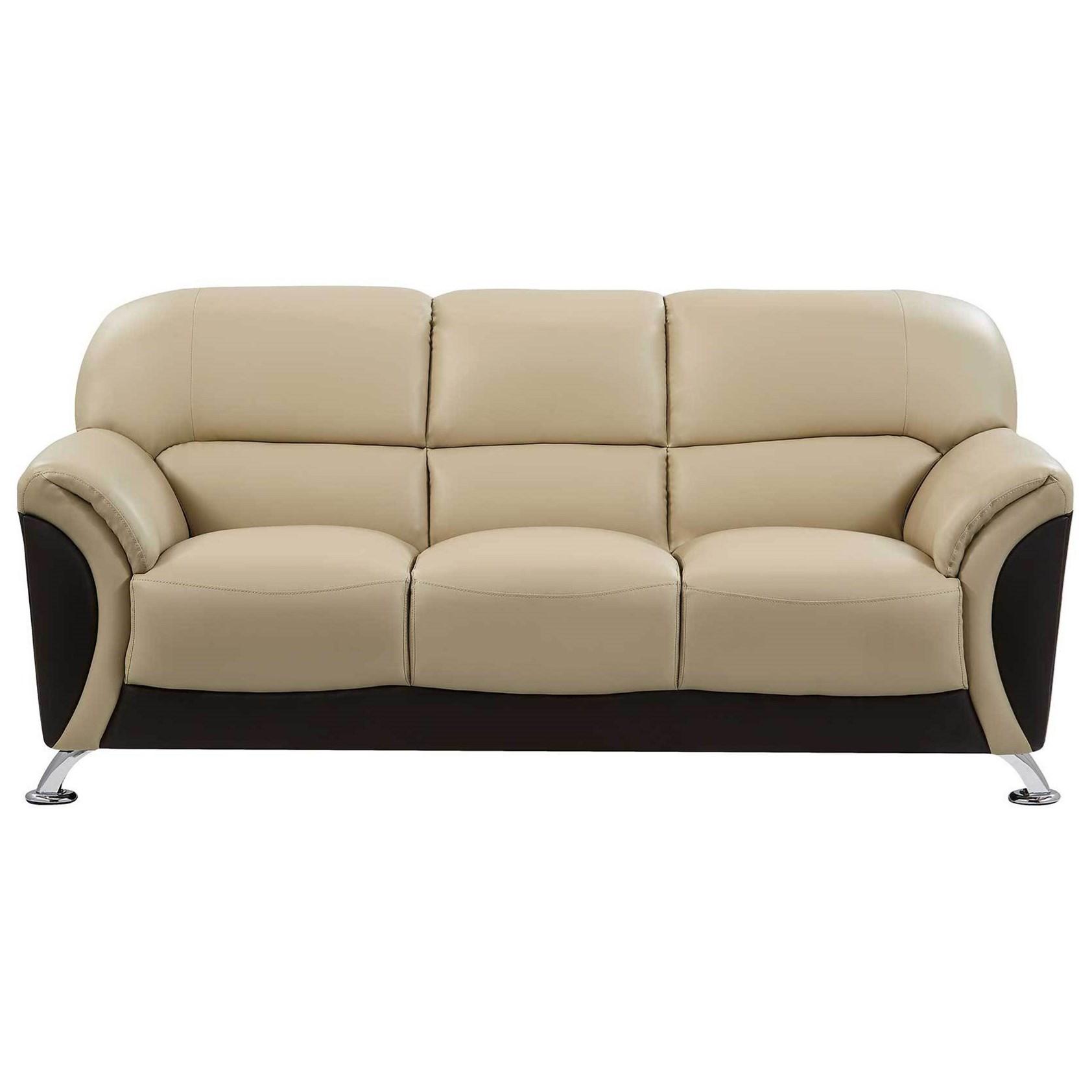 Sofa with Chrome Legs