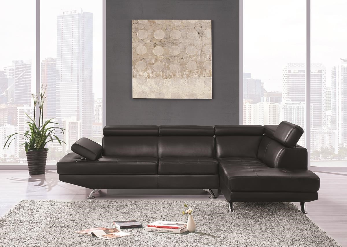 U9782 Sectional with Ratchet Headrest by Global Furniture at Darvin Furniture