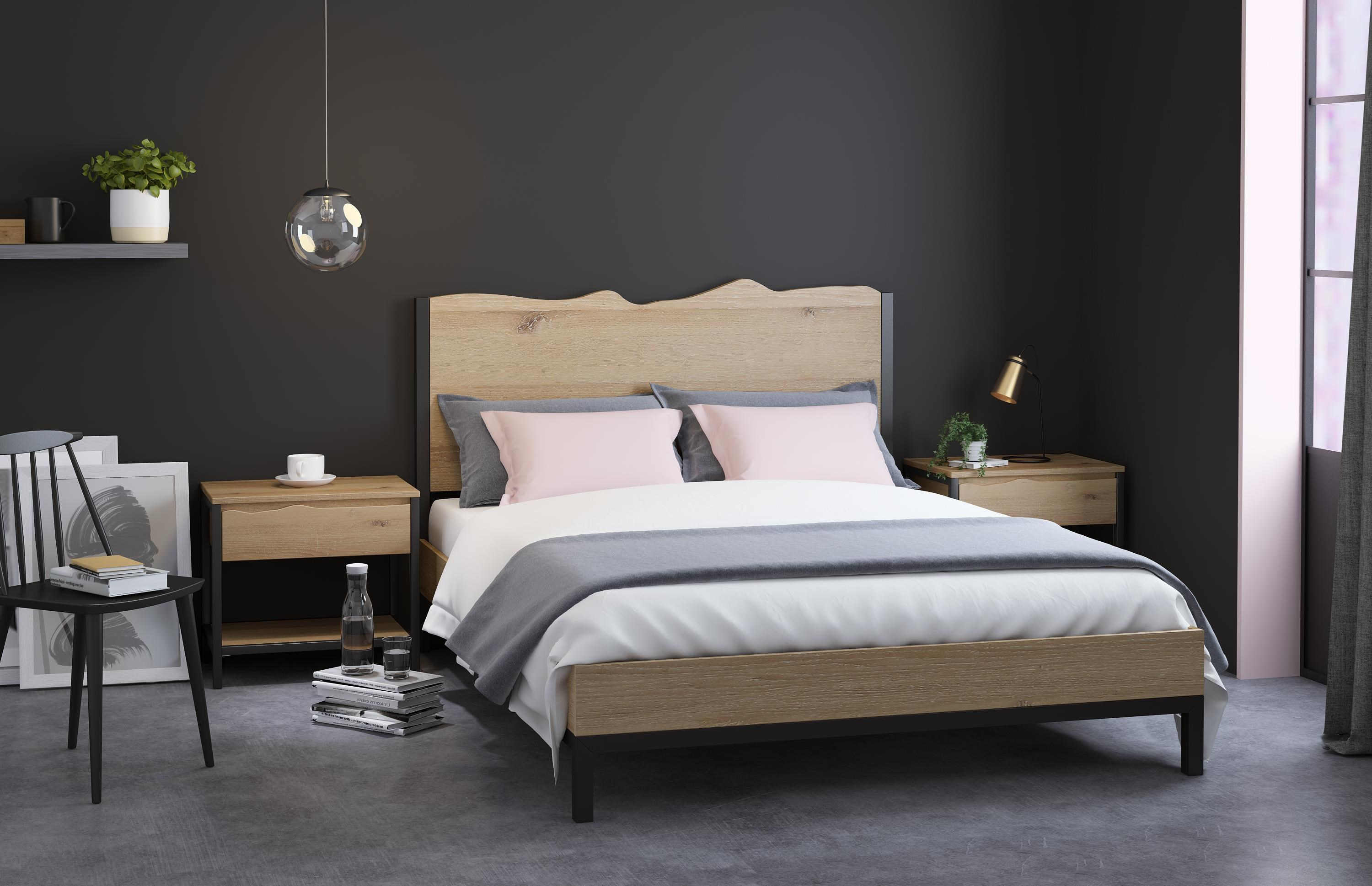 Oak Mill White Oil Queen Bed by Global Home at HomeWorld Furniture