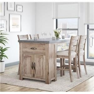5Pc Bar Dining Set