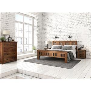 Queen Slat Panel Bedroom