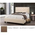 Global Trading Unlimited B622 - Ready to Assemble Upholstered Bed - Brown - Item Number: 980107