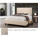 Global Trading Unlimited B622 - Ready to Assemble Upholstered Bed - Light Grey - Item Number: 980128