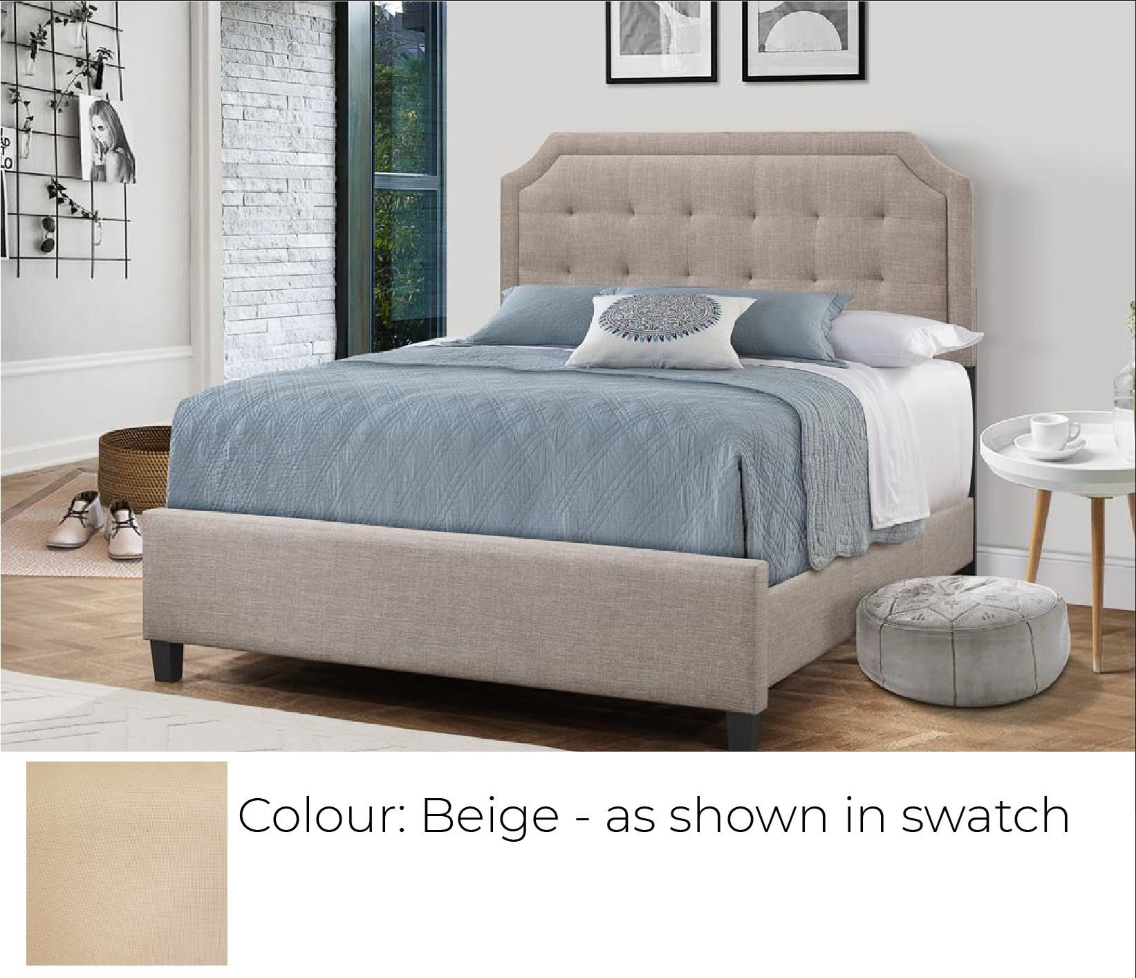 B623 - Ready to Assemble Upholstered Bed - Beige at Bennett's Furniture and Mattresses