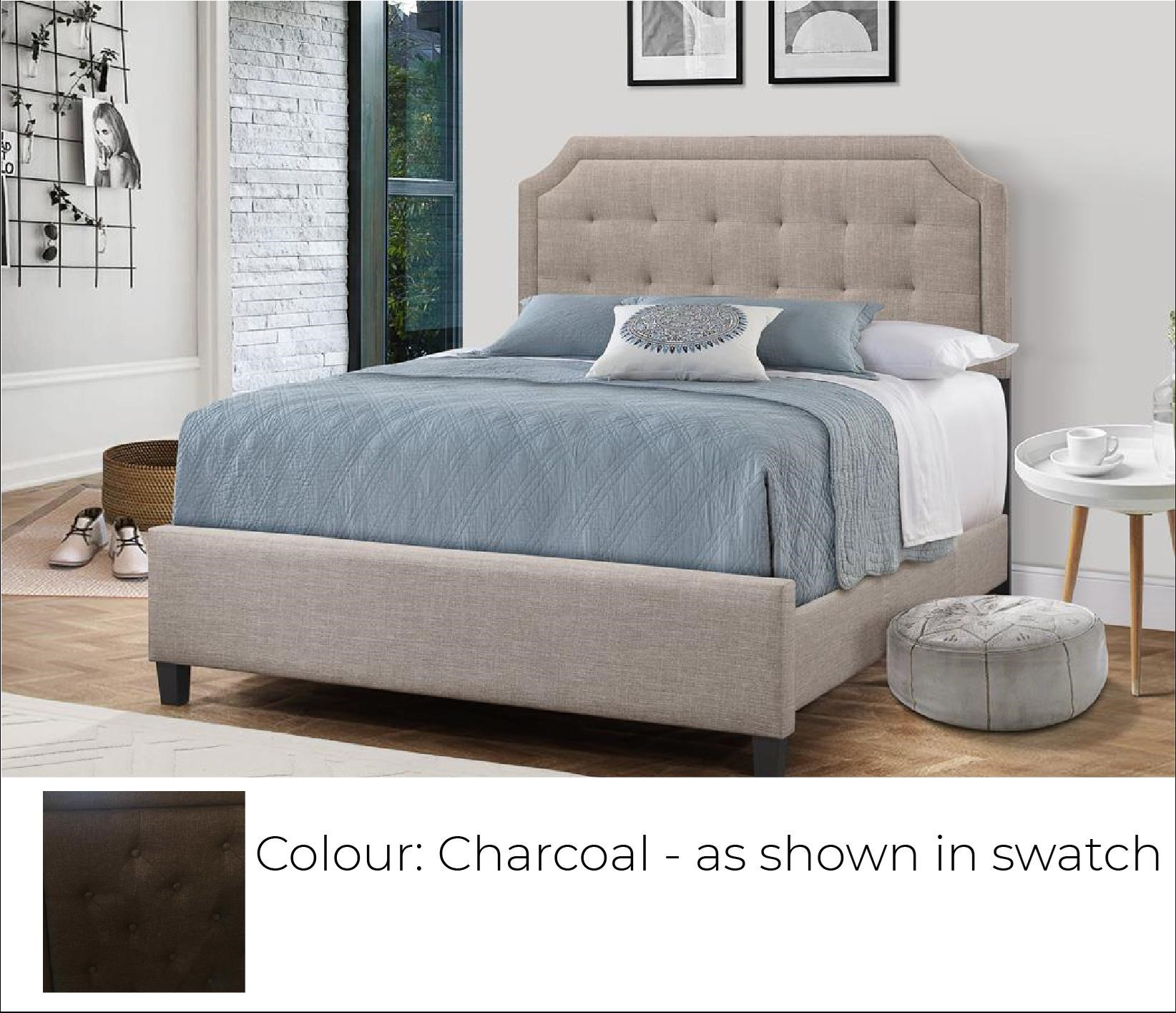 B623 - Ready to Assemble Upholstered Bed - Charcoal at Bennett's Furniture and Mattresses