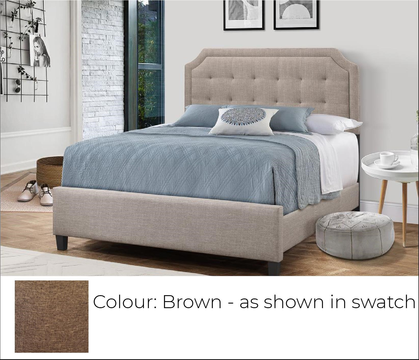 B623 - Ready to Assemble Upholstered Bed - Brown at Bennett's Furniture and Mattresses