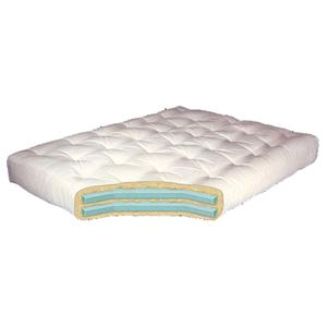 "Gold Bond Mattress Company Futon Mattresses 8"" Double Foam Cotton Futon"