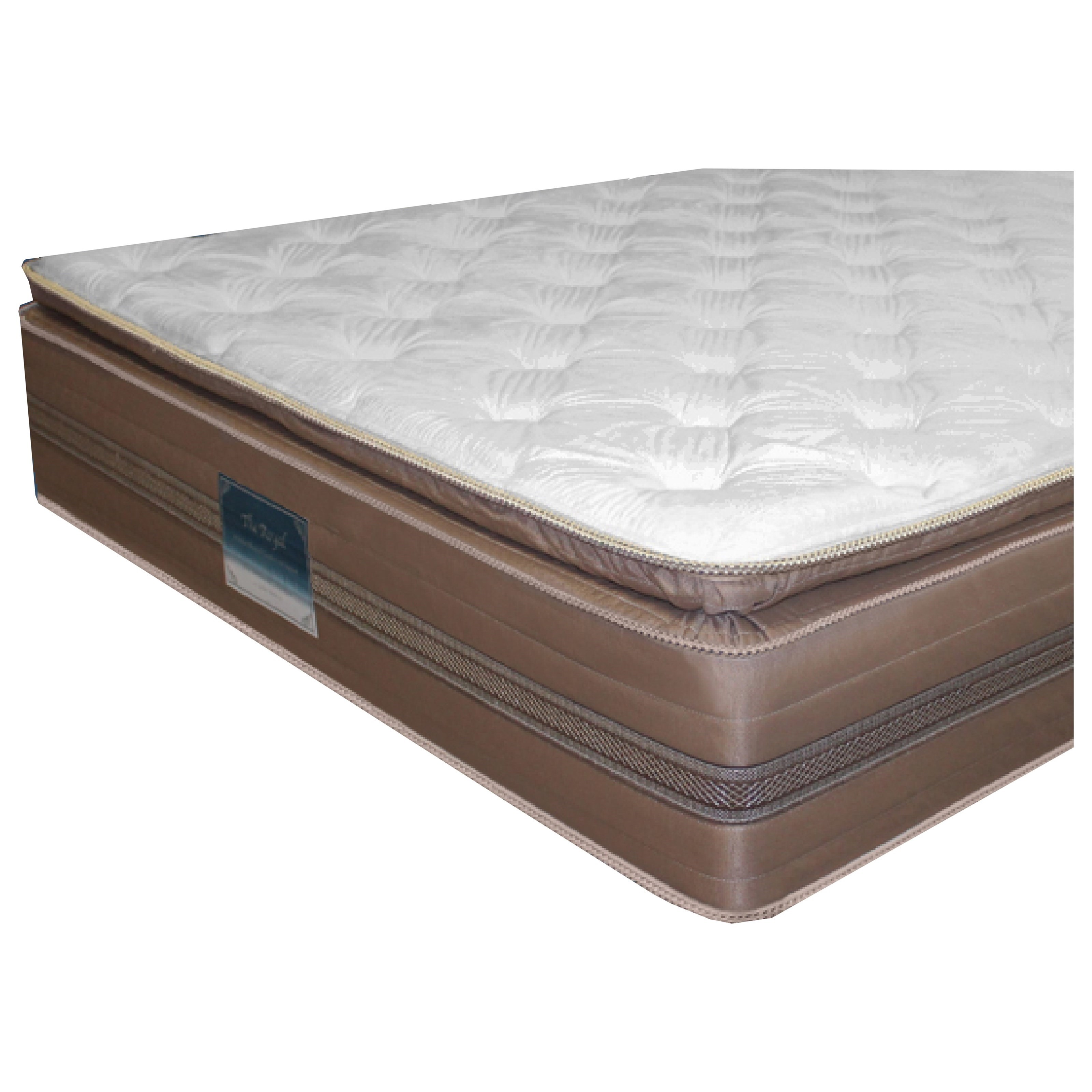Golden Mattress Company 4-Royal Pillow Top King Pillow Top Mattress Set - Item Number: 4-RoyalPT-K+2xWoodfndtn-TXL