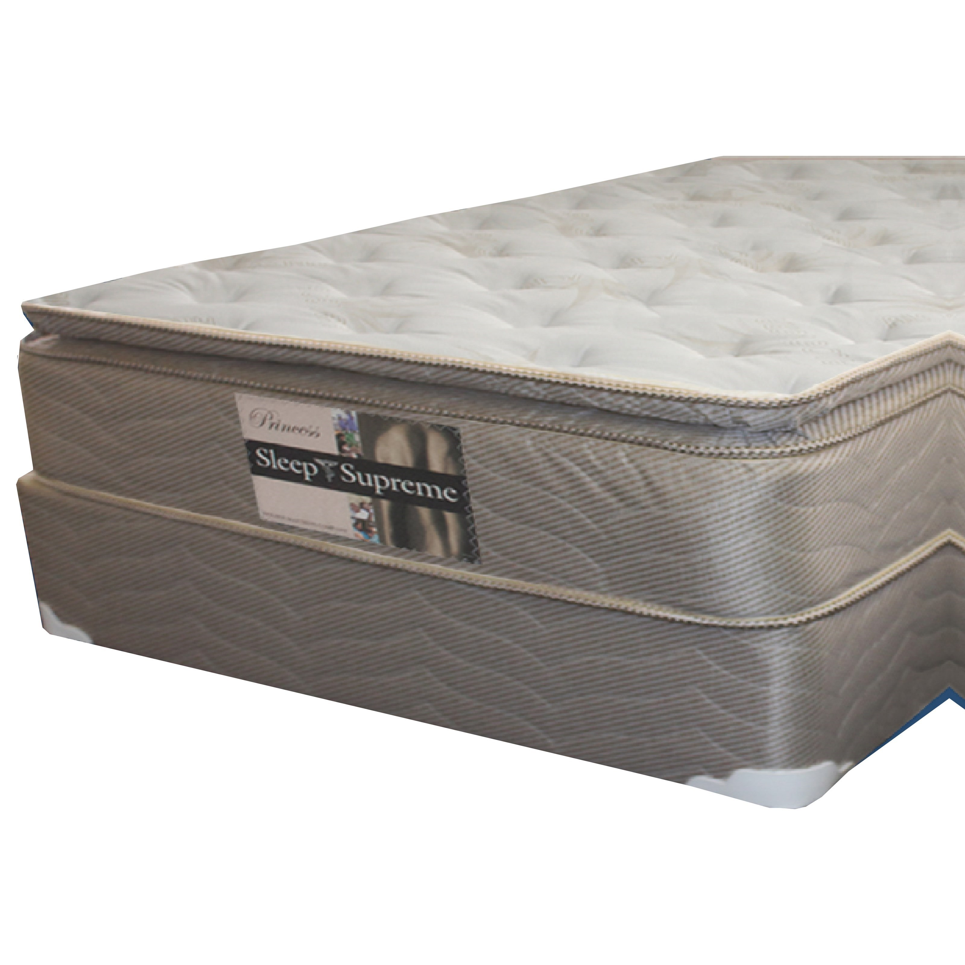 Golden Mattress Company 6-Princess PT Full Pillow Top Mattress Set - Item Number: 6-PrincessPT-F+Woodfndtn-F