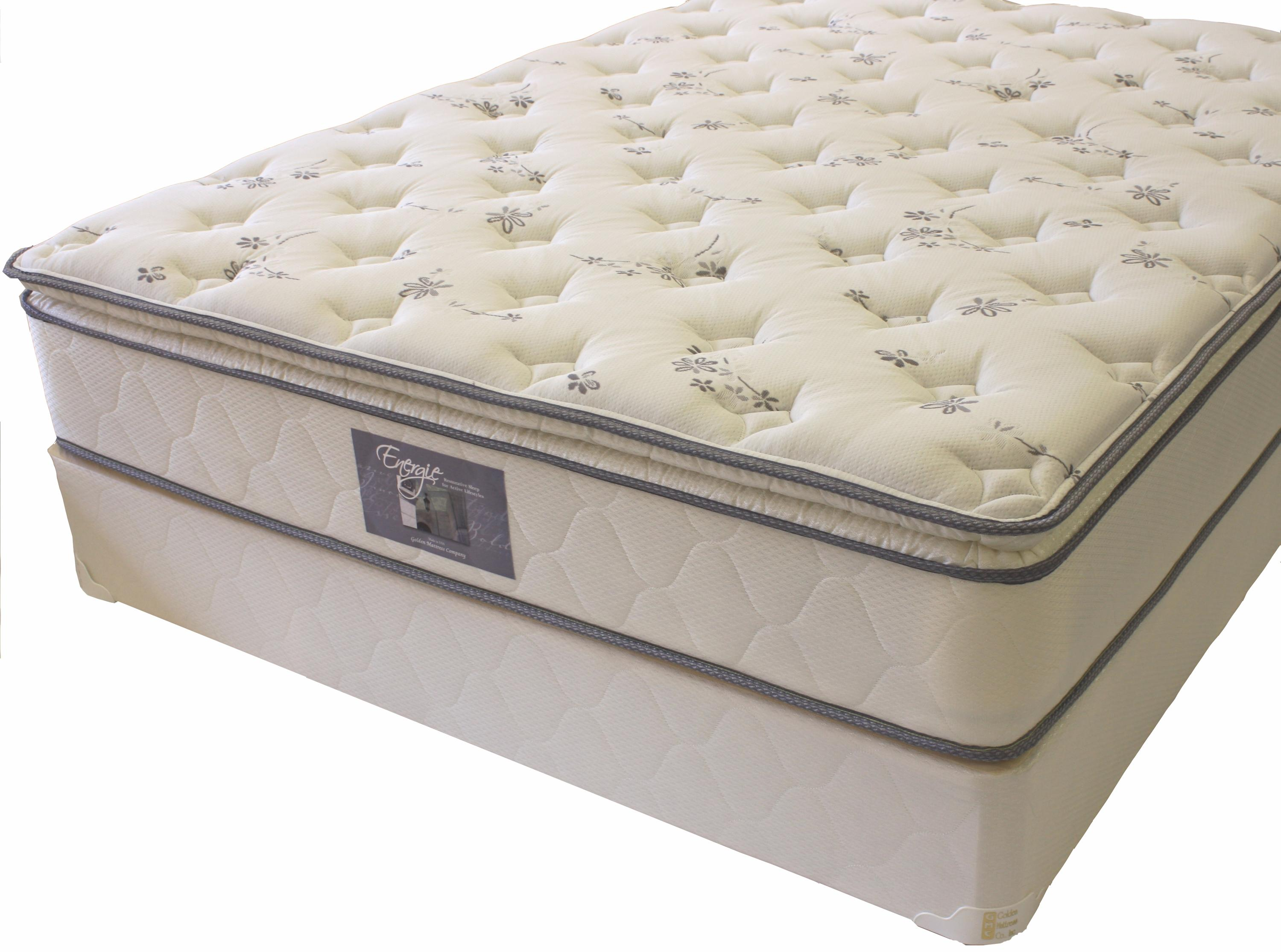 Golden Mattress Company Energie Queen Pillow Top Mattress Set - Item  Number: PT-Q