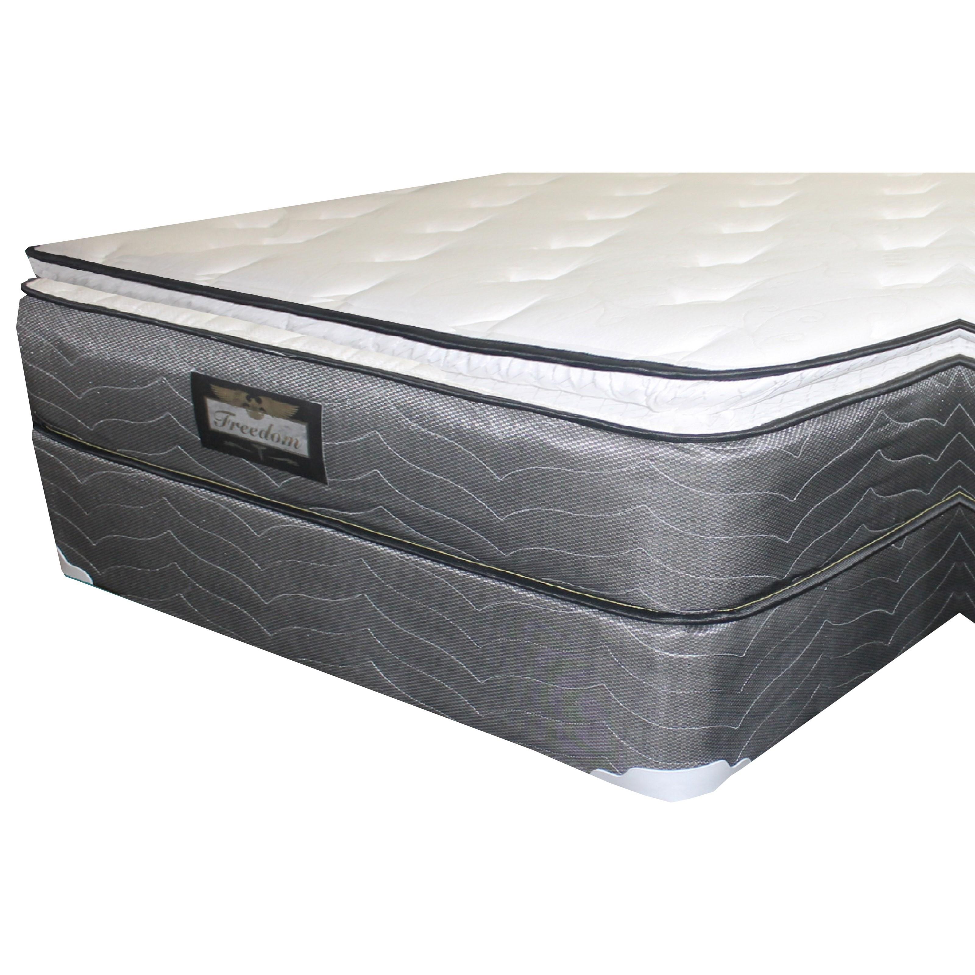 "Golden Mattress Company Freedom Foam Encased PT Queen 12"" Pillow Top Mattress Set - Item Number: Pillowtop-Q+Woodfndtn-Q"