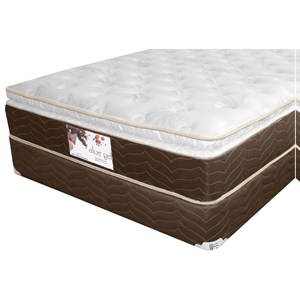 Golden Mattress Company Gel-Cool Aloe Gel Pillow Top Queen Gel Memory Foam, Innerspring Matt Set