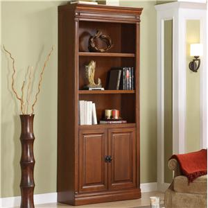 Golden Oak by Whalen Augusta Door Bookcase-ONE ONLY FLOOR MODEL!