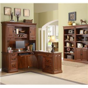 Golden Oak By Whalen Augusta Desk And Hutch