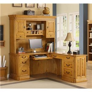 "Golden Oak by Whalen Cambria STOCK ONLY! ""L"" DESK WITH HUTCH!"