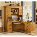 """Golden Oak by Whalen Cambria ONE ONLY FLOOR SAMPLE! """"L"""" DESK WITH HUTCH! - Item Number: AKIT"""