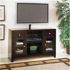 Golden Oak by Whalen Del Mar High Boy Tall Television Console w/ 2 Drawers