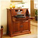 Golden Oak by Whalen New Hampshire Cherry Drop Lid Laptop Desk with 2 Doors - Inside of Drop Lid