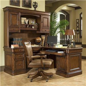 Amazing Golden Oak By Whalen Villa Tuscano Return Desk With Hutch