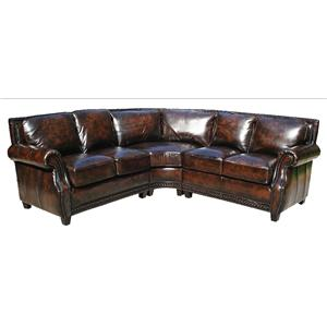 Gramercy Park Designs 1170  Sectional Sofa with Wedge