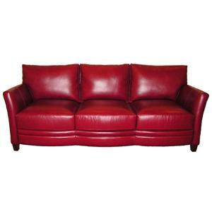 Gramercy Park Designs 1336 Contemporary Leather Sofa