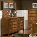 Great River Trading Co Plaza  8 Drawer Dresser - Shown with Square Mirror