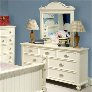 Great River Trading Co Laguna - Youth 7 Drawer Dresser & Mirror