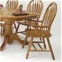 GS Furniture Classic Oak Monarch Arm Chair - Item Number: CL102W02A5CH