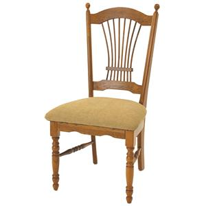 GS Furniture American Classic Sheaf Back Side Chair with Cushion